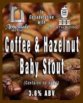 Coffee & Hazelnut Baby Stout 3.6%%