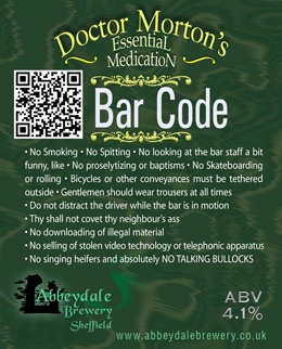 Dr Morton's Bar Code 4.1%%