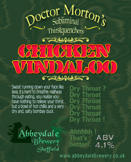 Dr Morton's Chicken Vindaloo 4.1%%